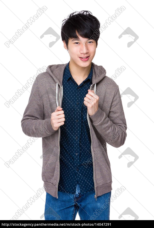 young, smiling, asian, man - 14047291
