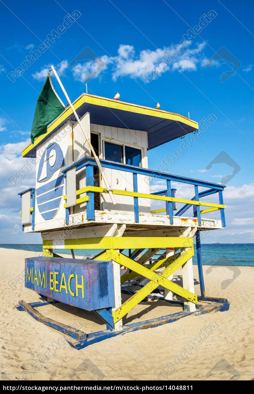 lifeguard, tower, , miami, beach, , florida - 14048811