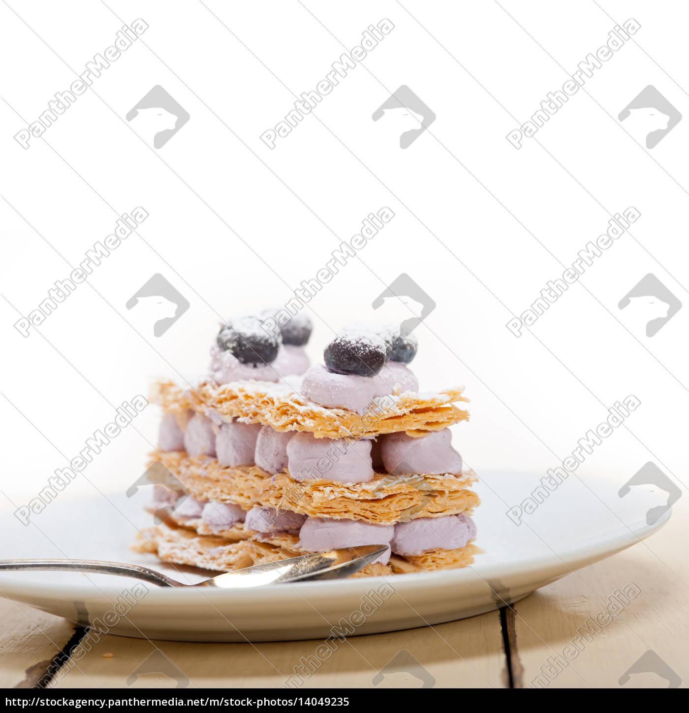 napoleon, blueberry, cake, dessert - 14049235