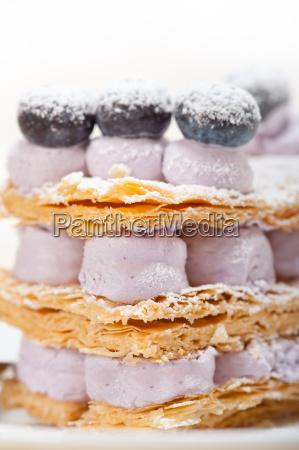 napoleon, blueberry, cake, dessert - 14049251