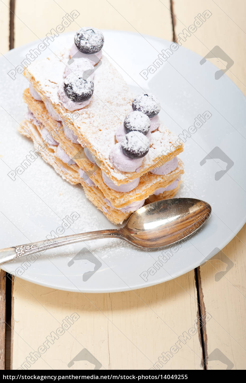 napoleon, blueberry, cake, dessert - 14049255