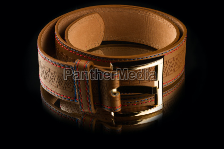 new, stylish, brown, leather, men's, belt - 14049415