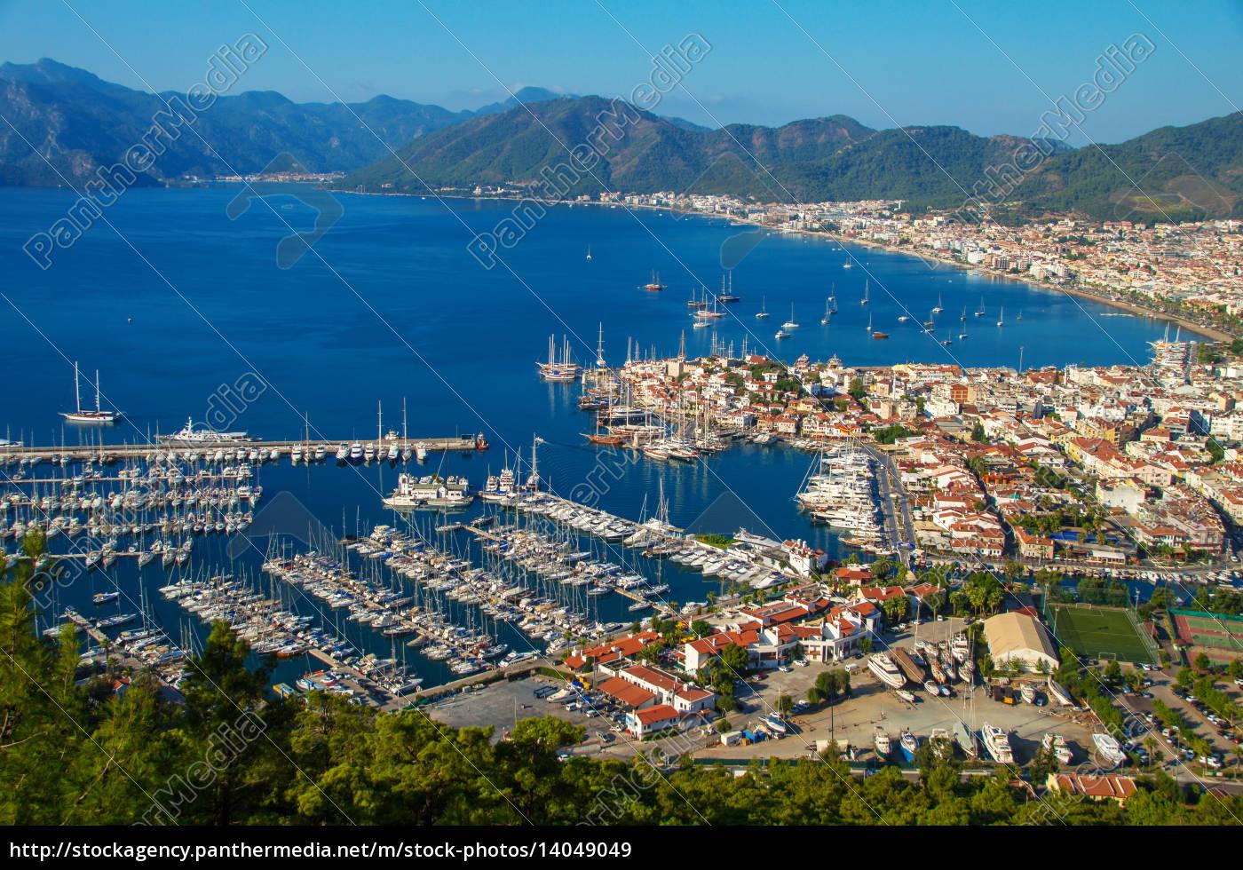 view, of, marmaris, harbor, on, turkish - 14049049