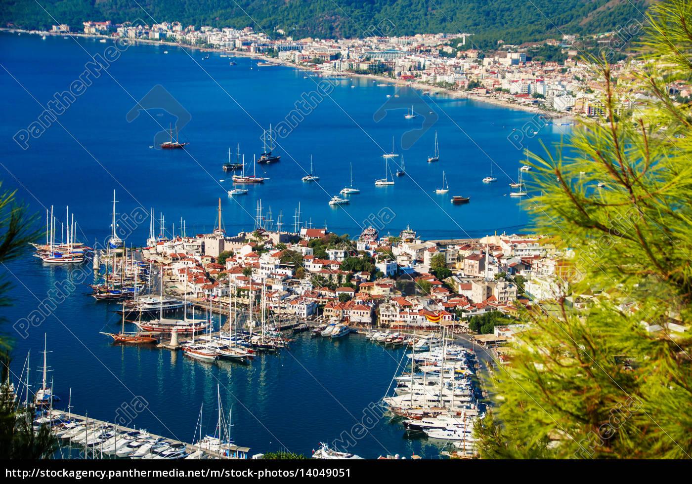 view, of, marmaris, harbor, on, turkish - 14049051