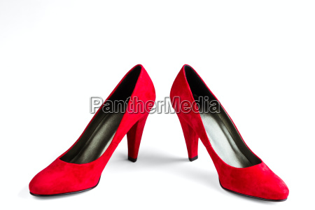 women's, red, velvet, shoes - 14049435