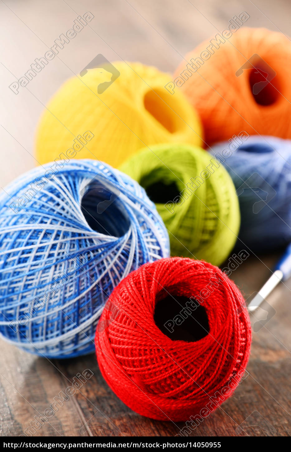 colorful, yarn, for, crocheting, and, hook - 14050955