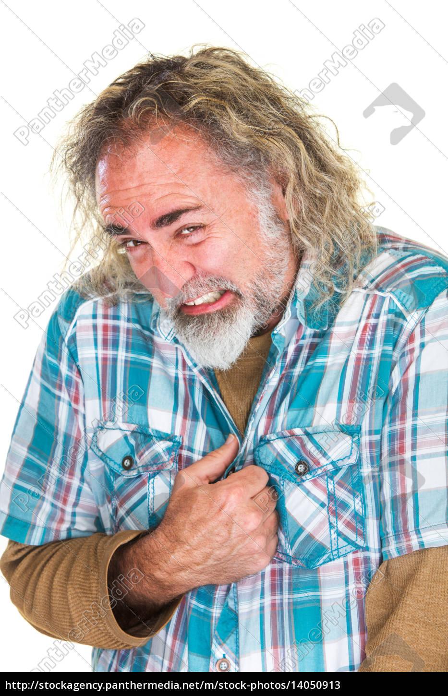 embarrassed, man, cringing - 14050913