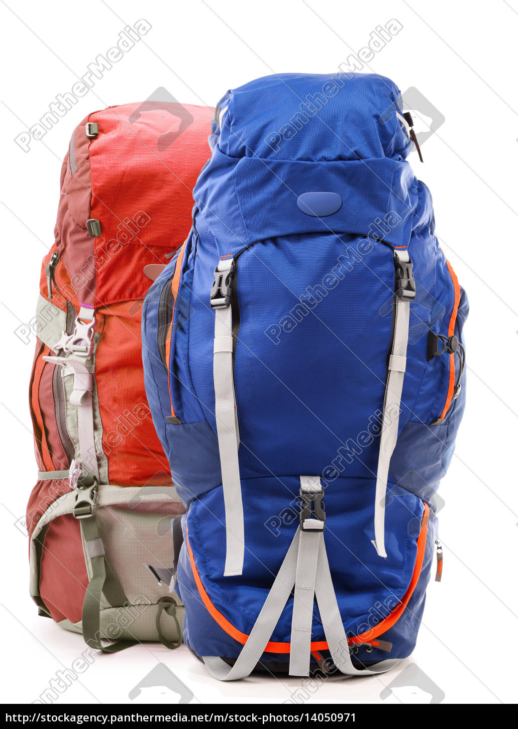 large, touristic, backpack, isolated, on, white - 14050971