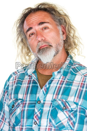 proud, man, in, flannel, shirt - 14050897