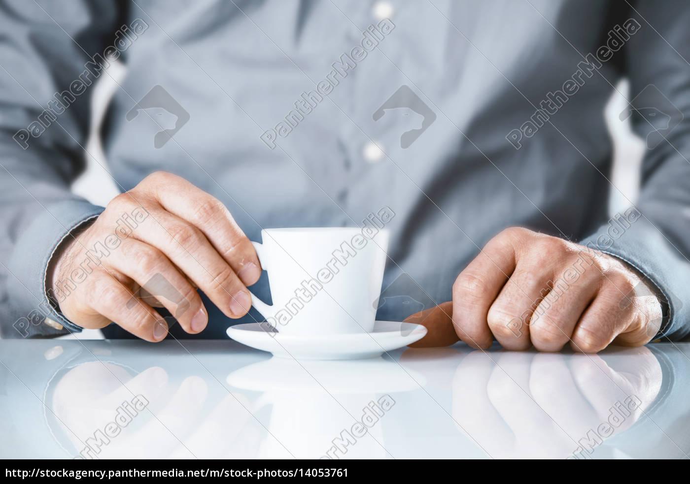 businessman, enjoying, a, coffee, break - 14053761