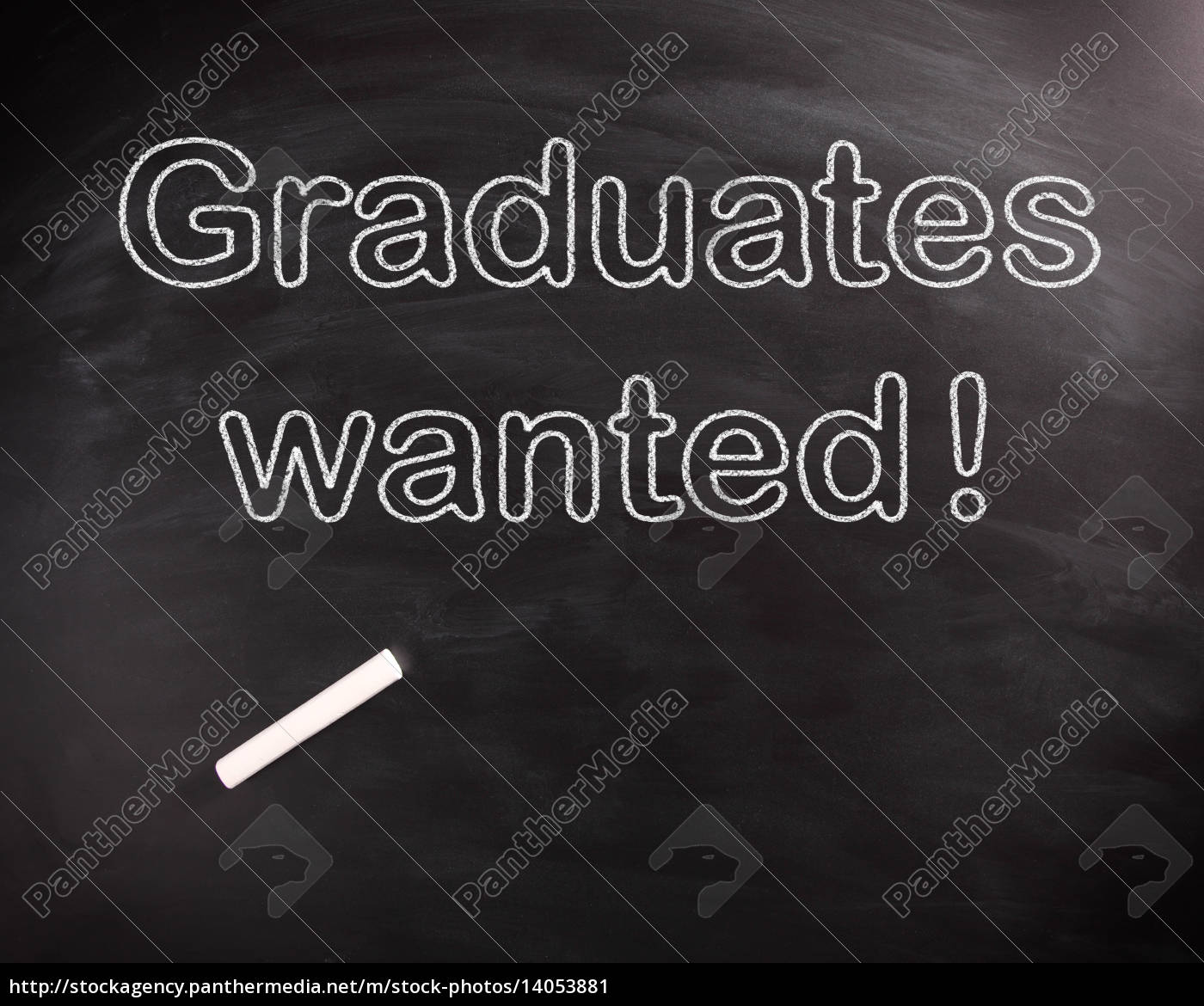 conceptual, graduates, wanted, texts, on, chalkboard - 14053881