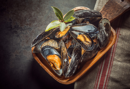 delicious, freshly, cooked, marine, mussels - 14053985
