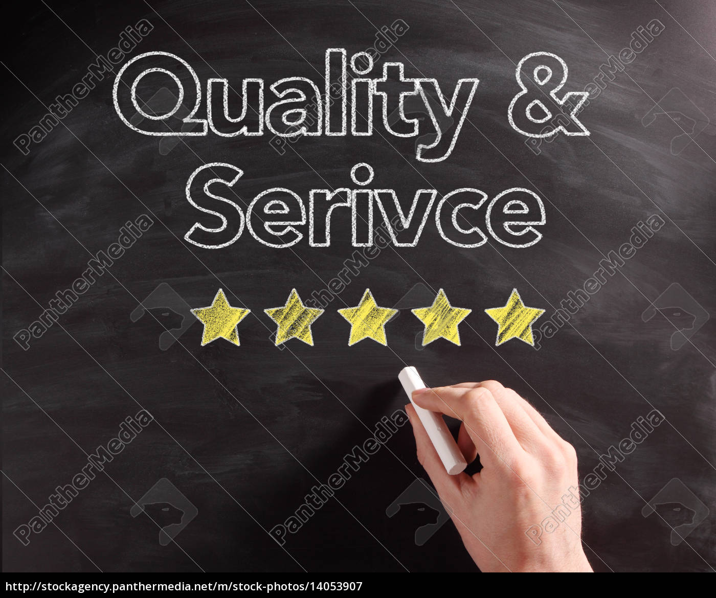handwritten, service, and, quality, texts, on - 14053907