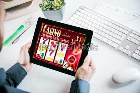 online, casino, gambling, interface, on, a - 14053807
