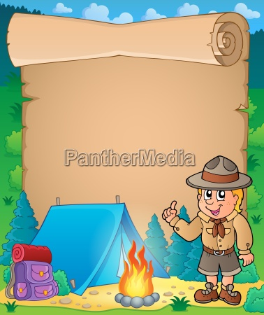 parchment, with, advising, scout, boy - 14054137