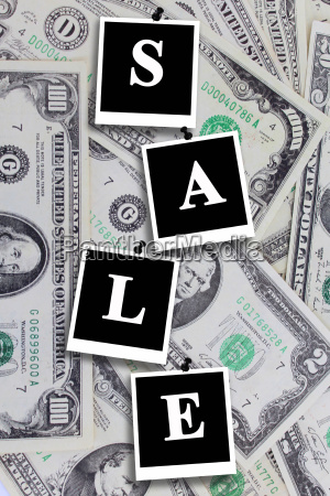 signboard, sale, on, the, dollar, background - 14054707
