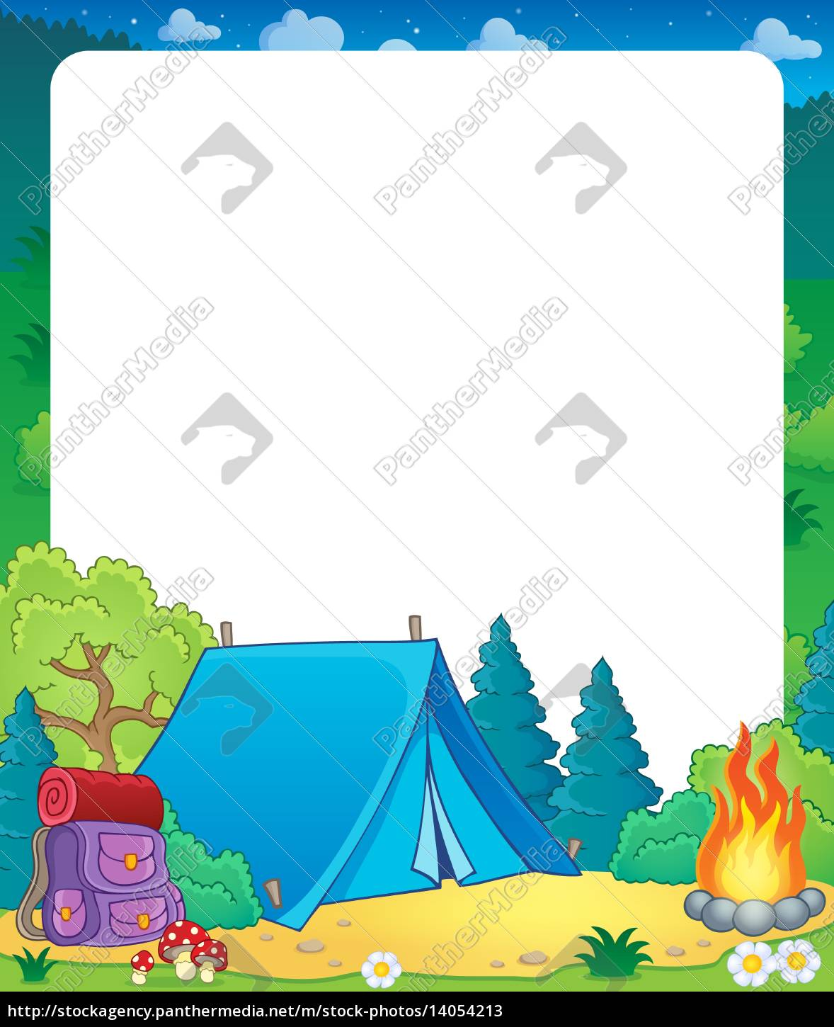 summer, frame, with, camp, site, theme - 14054213