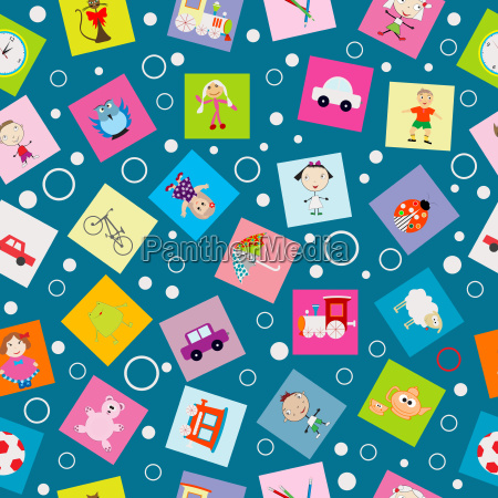 wrapping, paper, for, kids, with, cartoon - 14054833