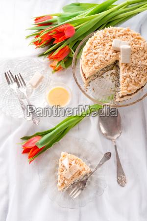 cheese almond cake