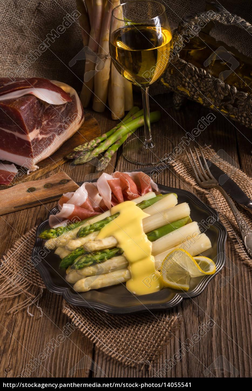 asparagus, with, ham - 14055541