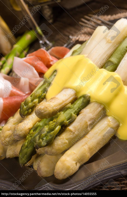 asparagus, with, ham - 14055555