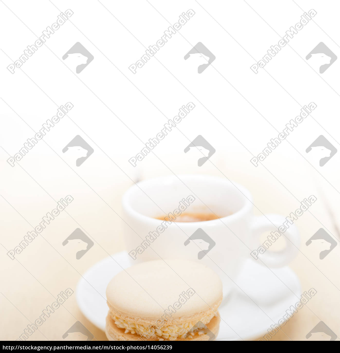 colorful, macaroons, with, espresso, coffee - 14056239