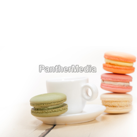 colorful, macaroons, with, espresso, coffee - 14056247