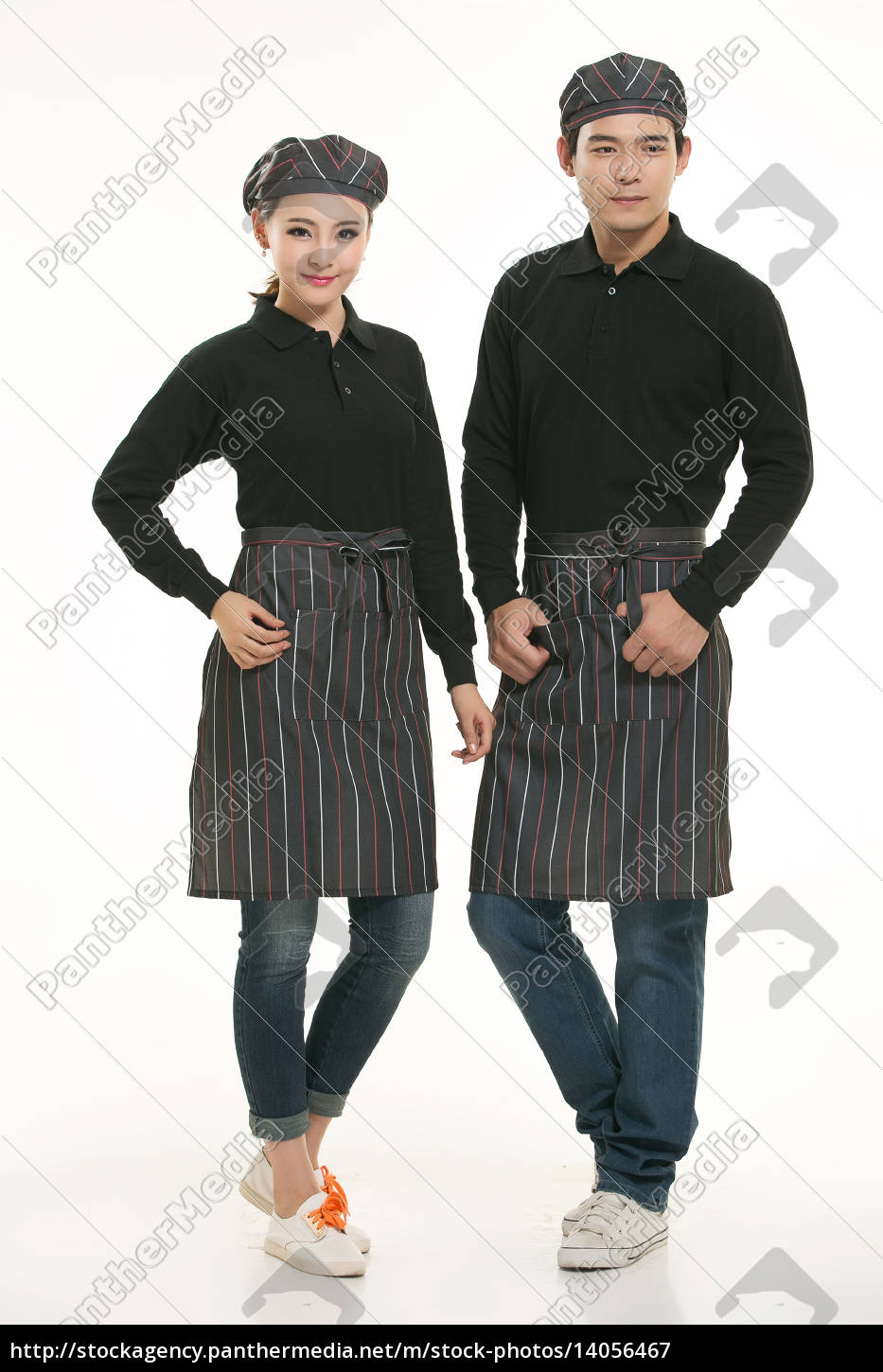 wear, clothing, occupation, chinese, waiters, in - 14056467