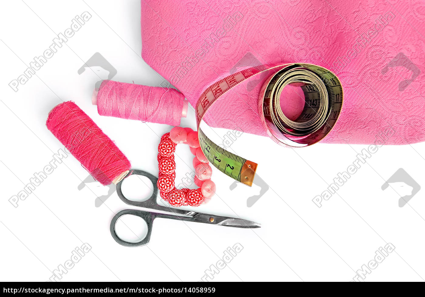 pink, accessories, with, fabric - 14058959