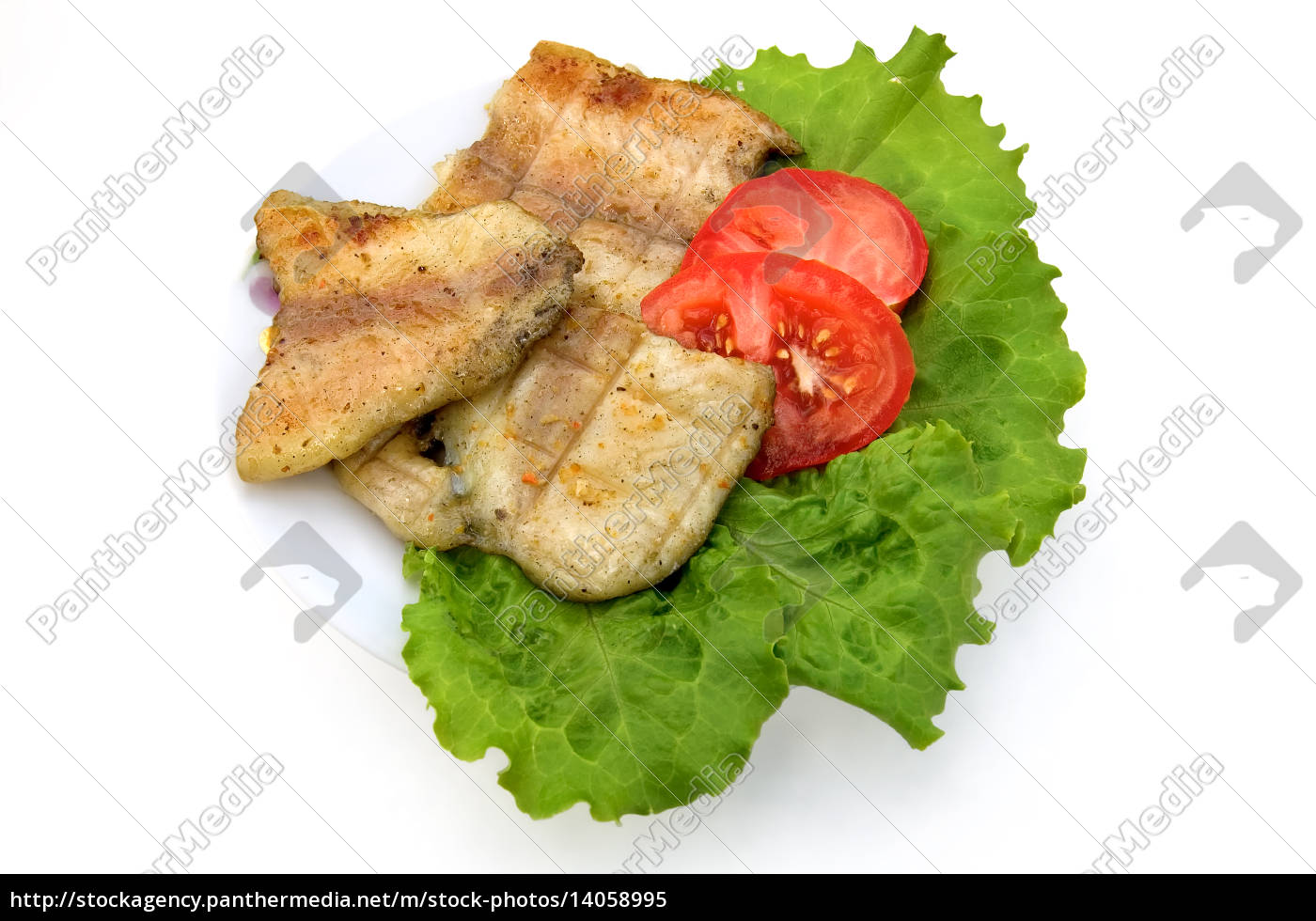 plate, with, fish, grilled - 14058995