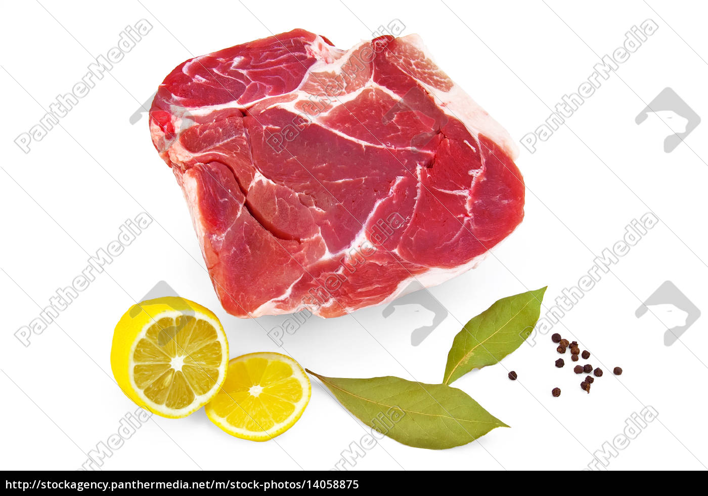 pork, with, lemon, and, laurel, - 14058875