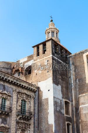 church, of, benedictine, monastery, in, catania, - 14059369