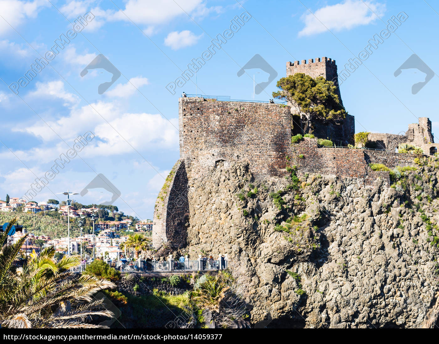 norman, castle, in, aci, castello, village, - 14059377
