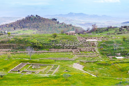 view, of, ancient, morgantina, settlement, in - 14059213