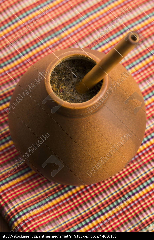 calabash, and, bombilla, with, yerba, mate - 14060133