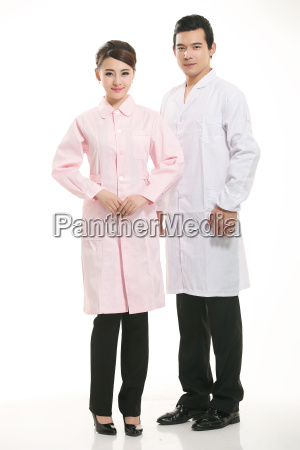 staff, wear, coats, in, front, of - 14061407