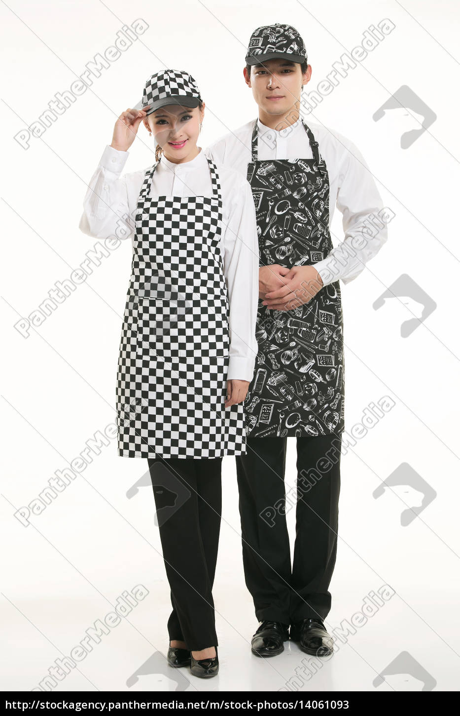 wear, clothing, occupation, chinese, waiters, in - 14061093