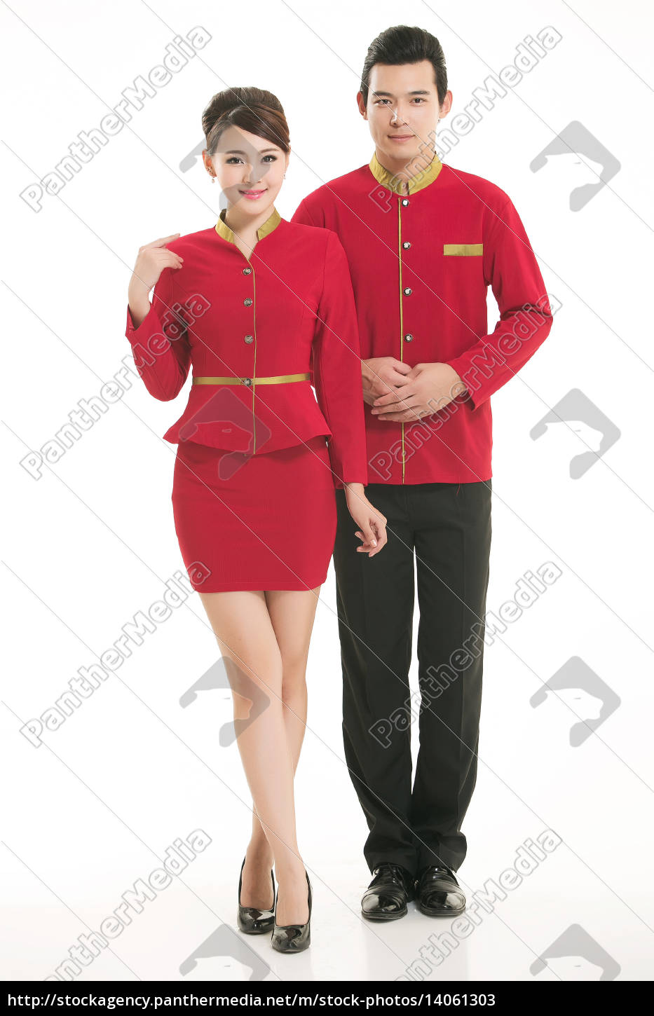 wear, clothing, occupation, chinese, waiters, in - 14061303