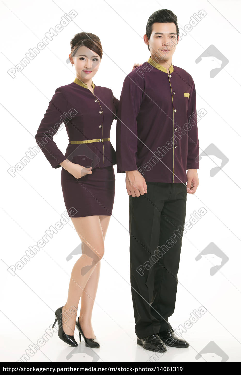 wear, clothing, occupation, chinese, waiters, in - 14061319