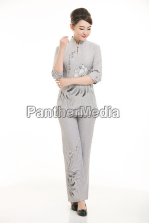 wear, clothing, occupation, chinese, waiters, in - 14061347