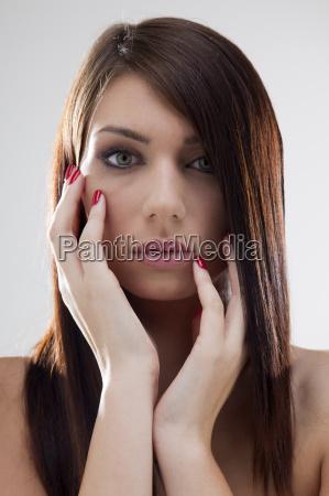 woman, close, beautiful, beauteously, nice, isolated - 14061447