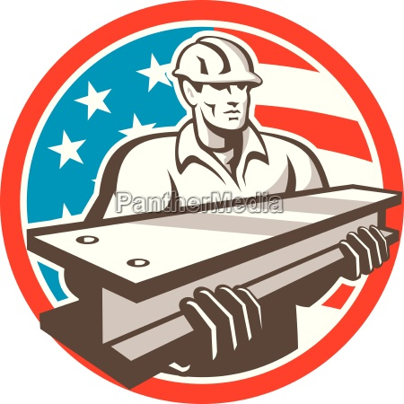 construction steel worker i beam usa