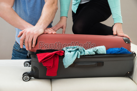 couple, together, packing, luggage - 14062525