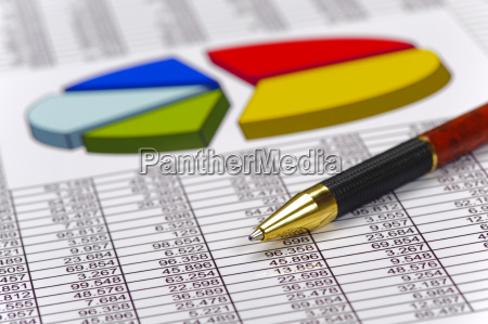 finance and calculation with chart and