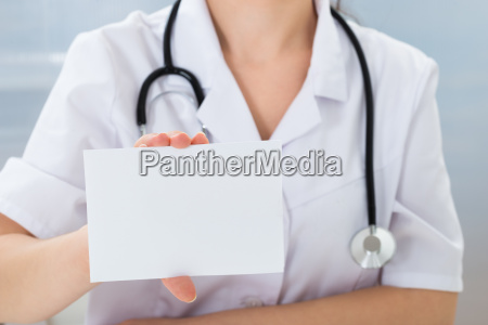 doctor, holding, blank, card - 14063651