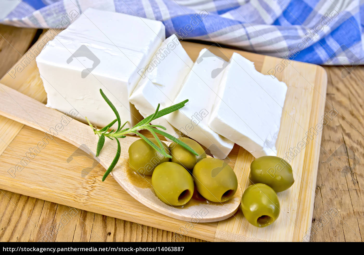 feta, with, olives, and, rosemary, in - 14063887