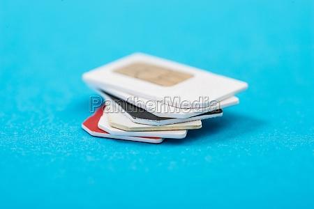 stack, of, phone, sim, card - 14063225