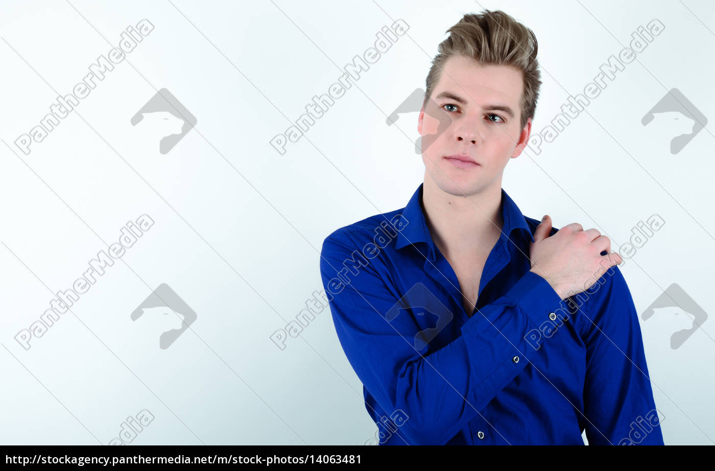 young, man, on, a, light, background - 14063481