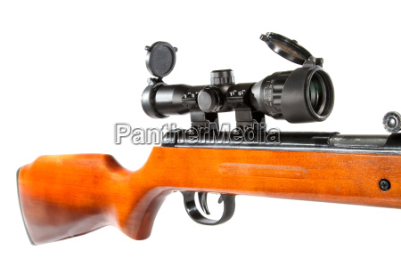 air rifle with a telescopic sight