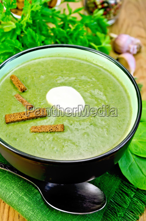 puree, from, spinach, with, garlic, and - 14064093